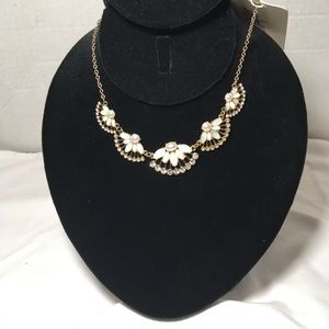 Pearls Fans and Flowers Necklace